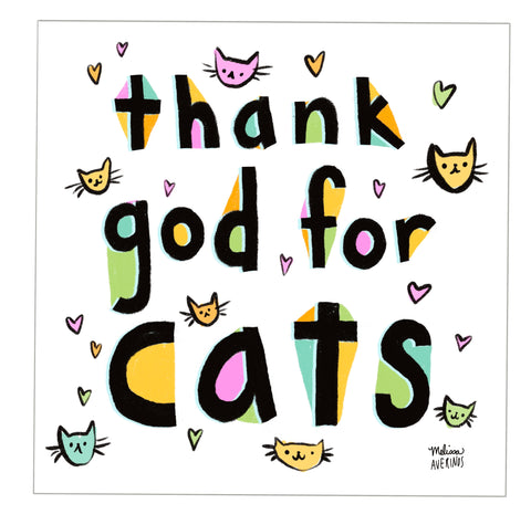 Preorder THANK GOD FOR CATS sticker