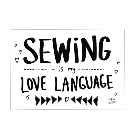 SEWING IS MY LOVE LANGUAGE sticker