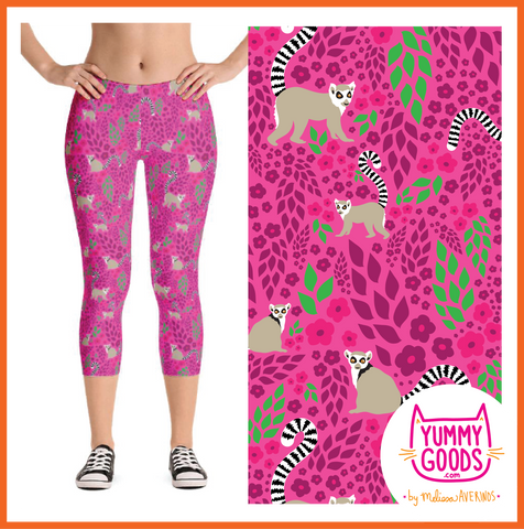 LEMUR LOVE capri leggings - Melissa Averinos