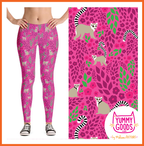 LEMUR LOVE Mid-Rise Leggings - Melissa Averinos