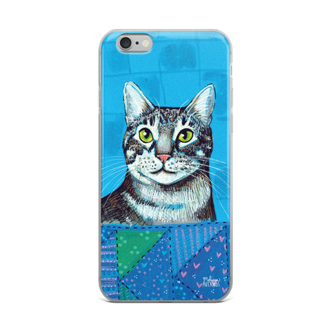 CHESTER Gray Tiger Cat iPhone Case - Melissa Averinos