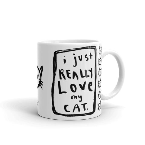I JUST REALLY LOVE MY CAT Mug - Melissa Averinos