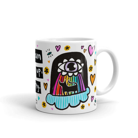 BEAM ME UP, KITTY mug