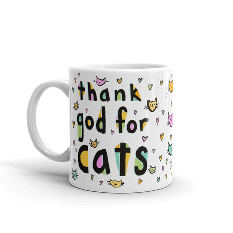 THANK GOD FOR CATS mug