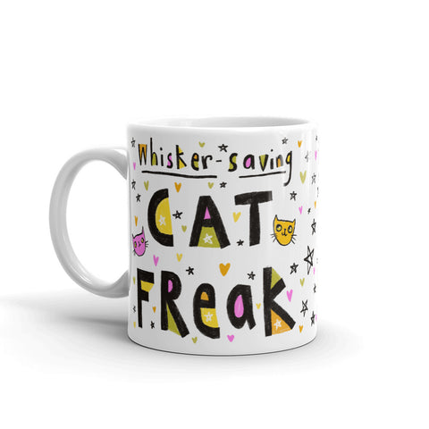 WHISKER-SAVING CAT FREAK Mug