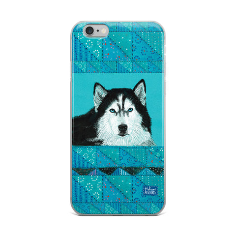 KING HUSKY iPhone Case - Melissa Averinos