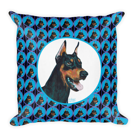 DOBERMAN Pillow  18x18 - Melissa Averinos