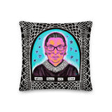 RBG WHEN THERE ARE NINE 18x18'' pillow