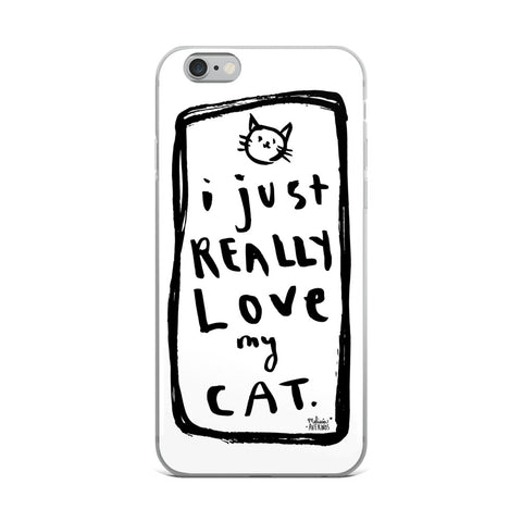 I JUST REALLY LOVE MY CAT iPhone Case - Melissa Averinos