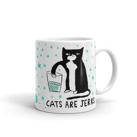 CATS ARE JERKS Mug - Melissa Averinos