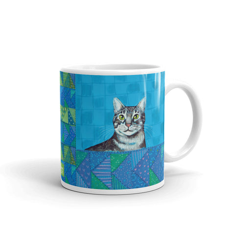 CHESTER Gray Tiger Cat Mug - Melissa Averinos