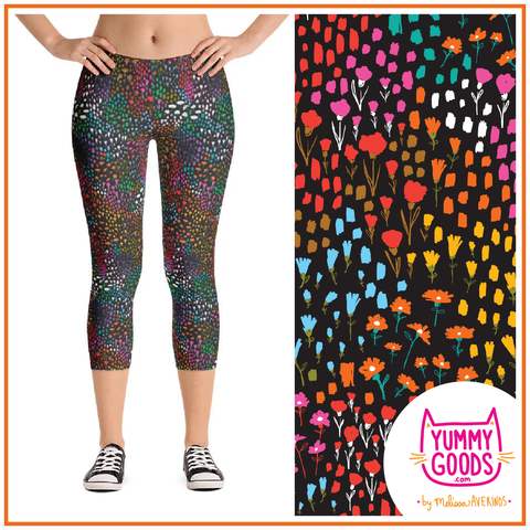 PAINTED MEADOW Mid-Rise Capri Leggings - Melissa Averinos