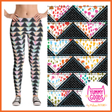 PATCHWORK TRIANGLES Mid-Rise Leggings - Melissa Averinos