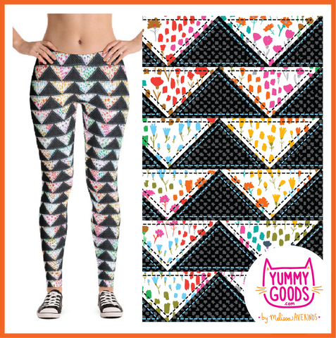 PATCHWORK TRIANGLES leggings - Melissa Averinos