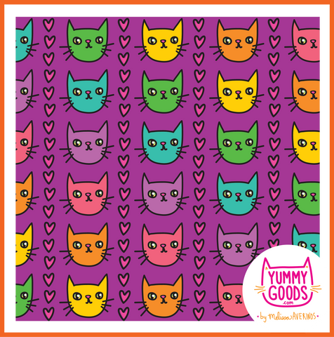 RAINBOW KITTIES leggings - Melissa Averinos