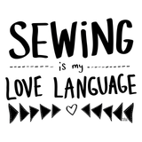 SEWING IS MY LOVE LANGUAGE Ladies' Cap Sleeve T-Shirt - Melissa Averinos