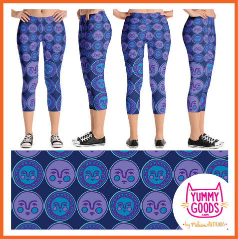 SUN AND MOON capri leggings