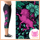 UNICORN MAJESTY Mid-Rise Capri Leggings - Melissa Averinos