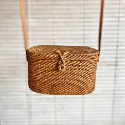 Binocular Case Ata Straw Bag