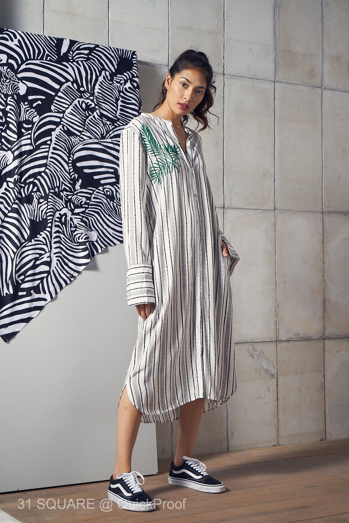 HariHari Midi Shirt Dress