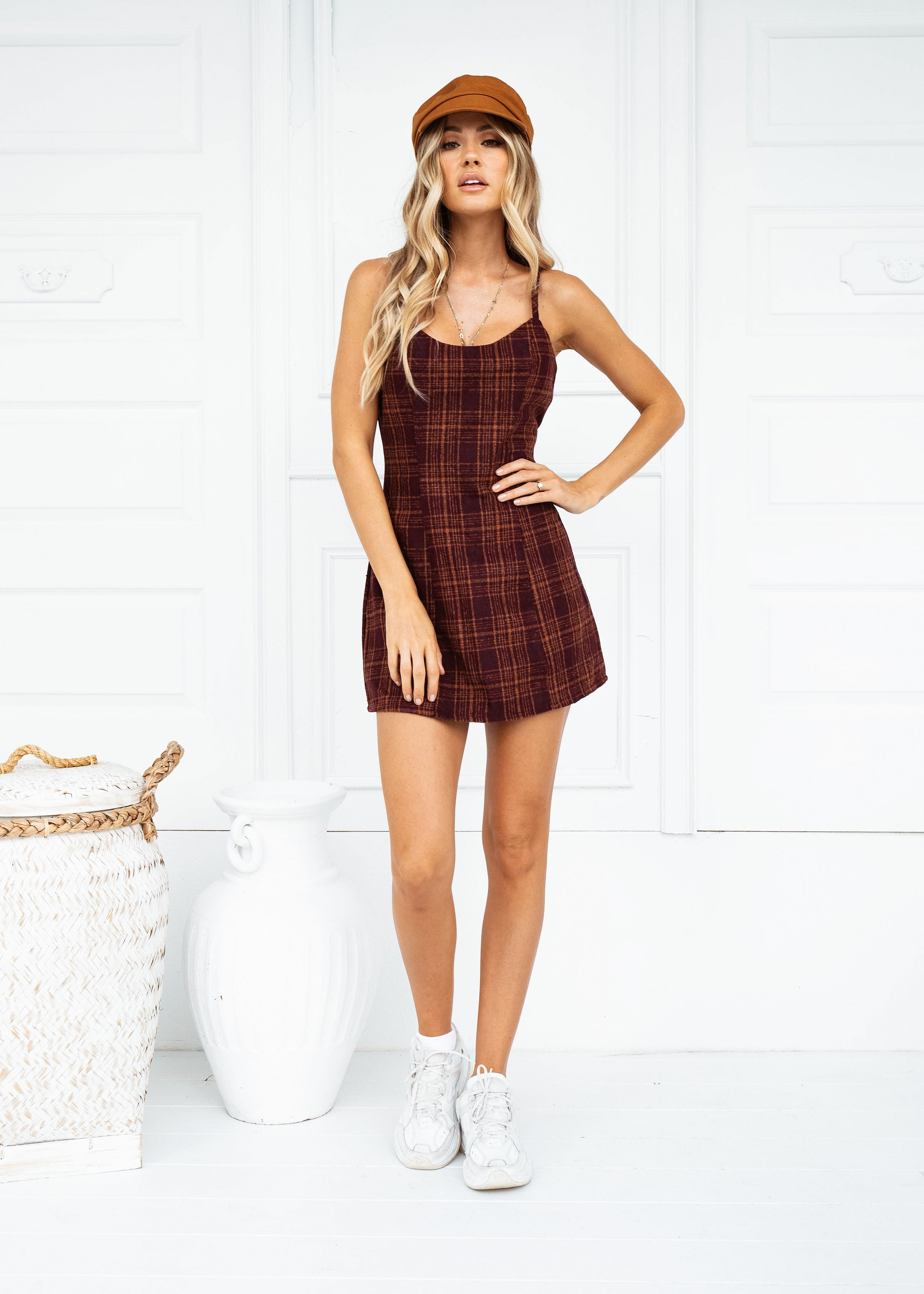 ALL YOU NEED PLAID DRESS