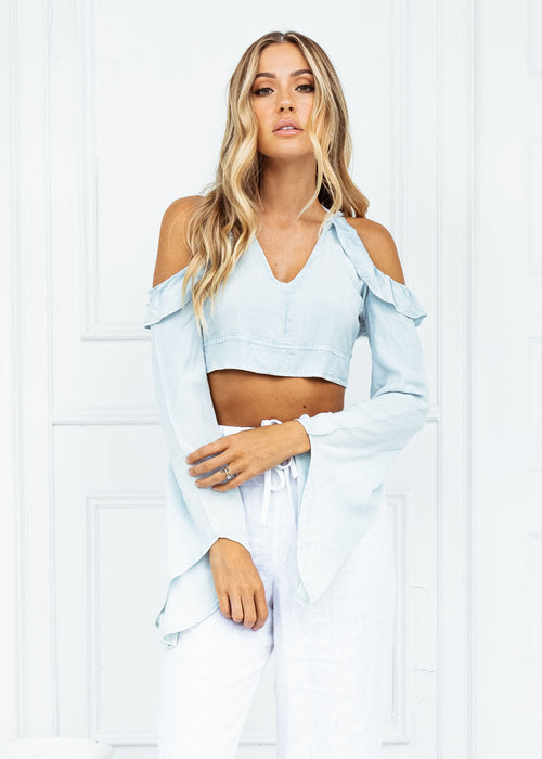 ENDLESS SUMMER FLARED SLEEVE CROP TOP - Sista Somewhere