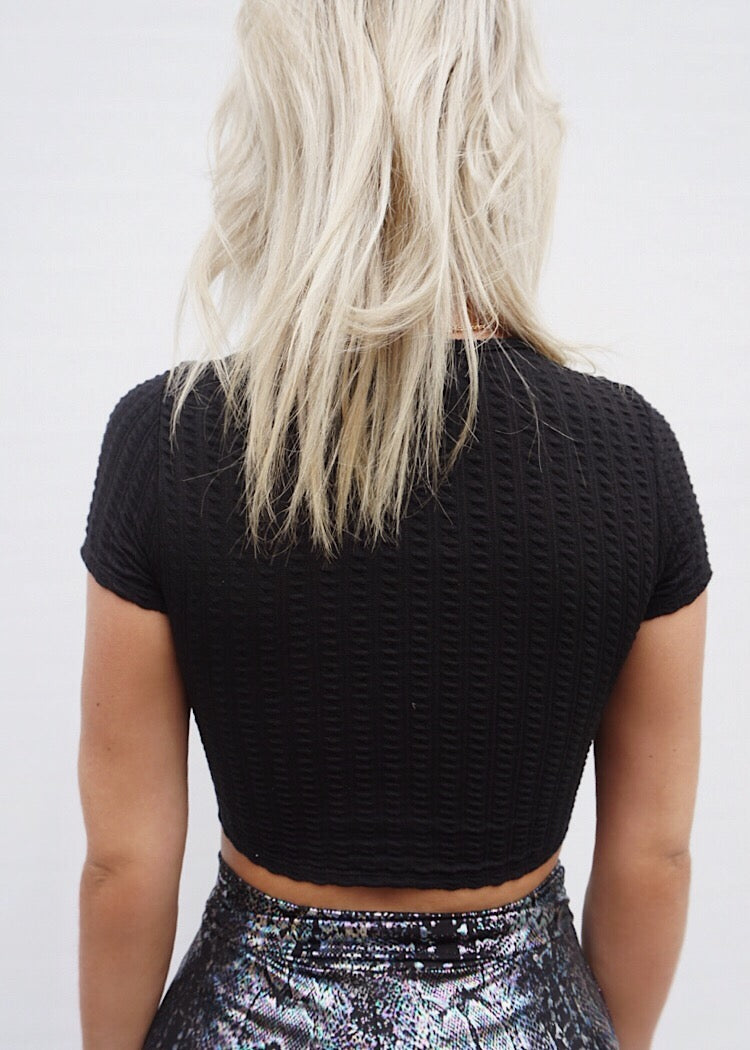 ENVY CROP TOP - BLACK