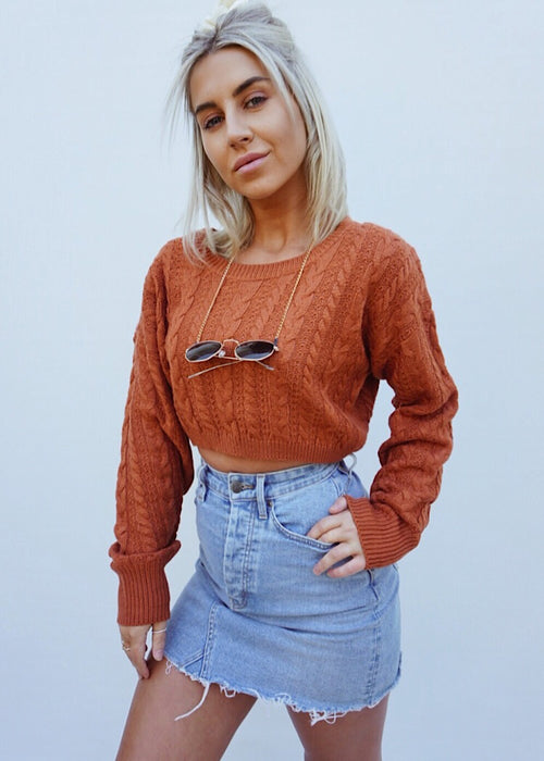 FAR FROM THE SUN KNITTED TOP - Sista Somewhere