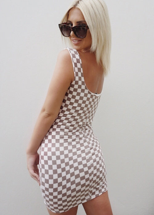 RACE DAY MINI DRESS - Sista Somewhere