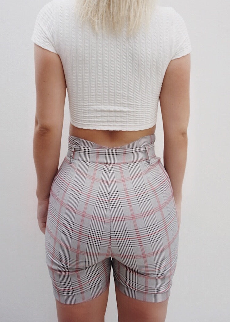 ZARA PLAID SHORTS