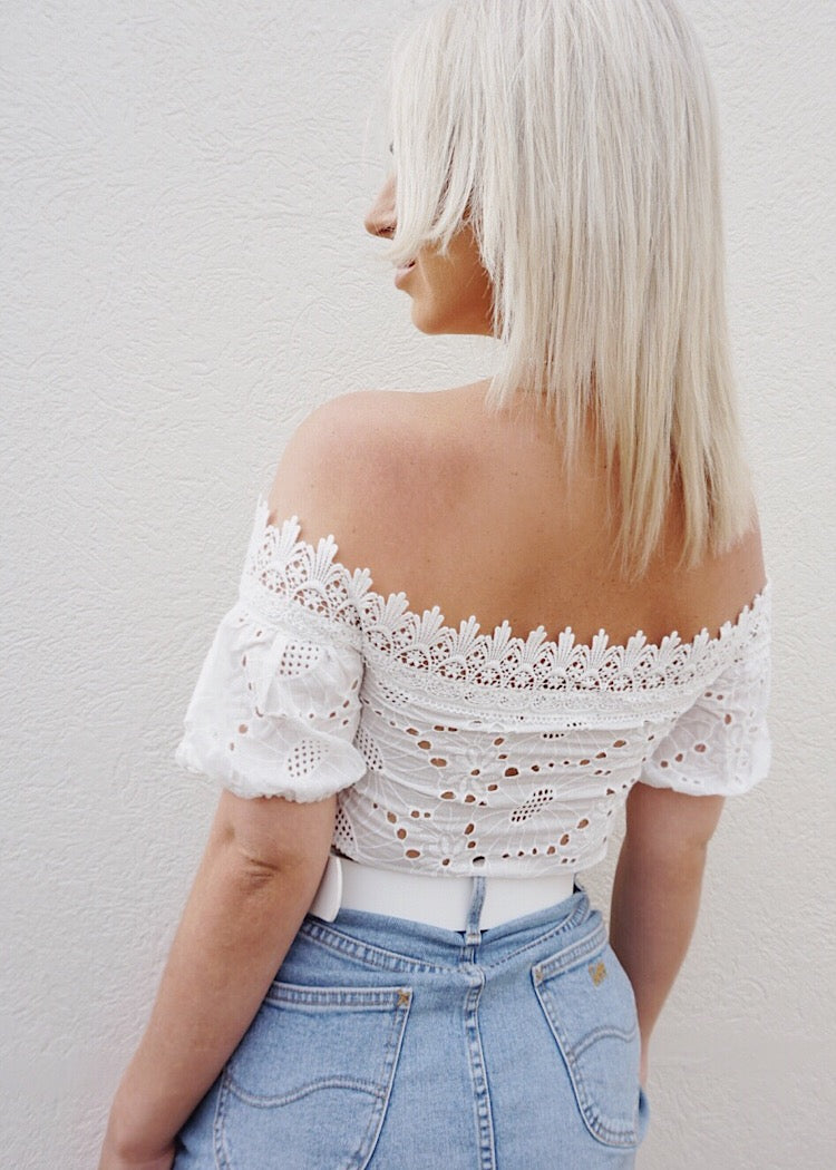 ZENNIA CROP TOP - WHITE - Sista Somewhere
