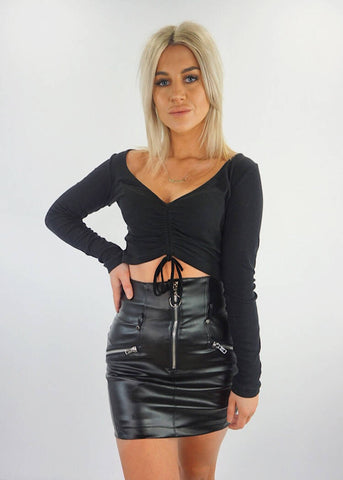 PACADENA WRAP MINI SKIRT