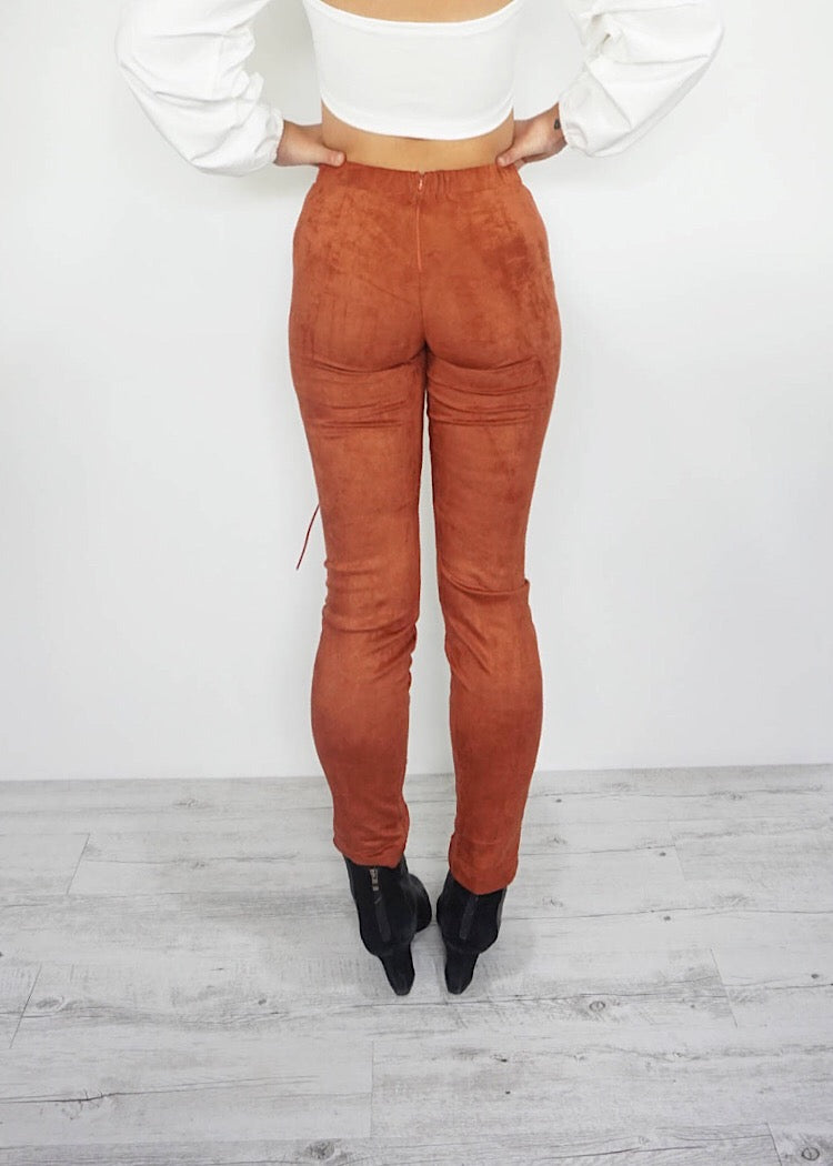 FOREVER AND ALWAYS RUST PANTS - Sista Somewhere