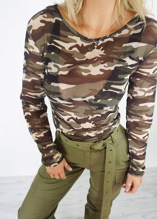 TAKE NO PRISONERS CAMO TOP