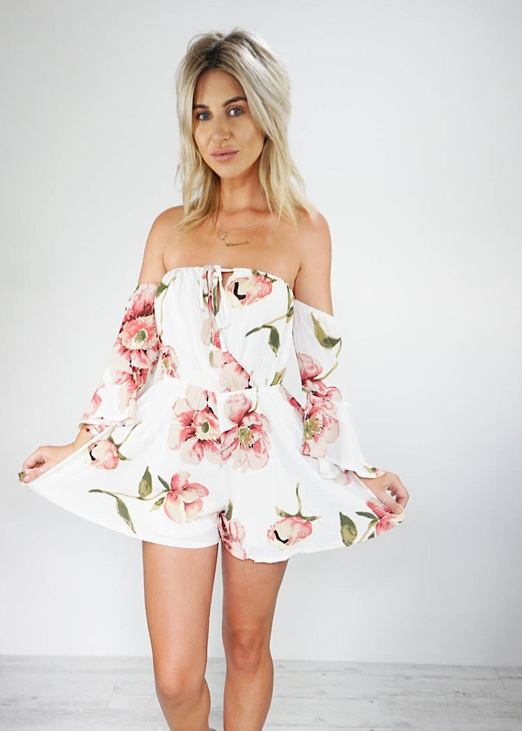 666461e01b8 LOST IN PARADISE OFF THE SHOULDER PLAYSUIT – Sista Somewhere