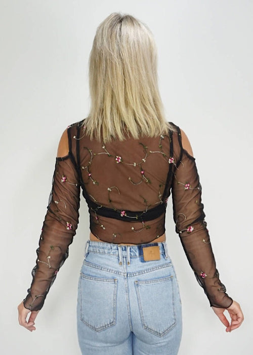 FLY BY NIGHT CROP TOP