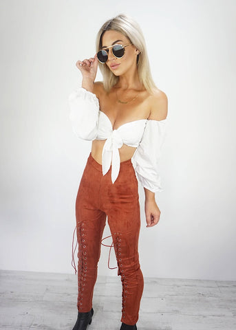 ST ELMO PLAID CROP TOP