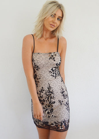 GENEVA HALTER MINI DRESS