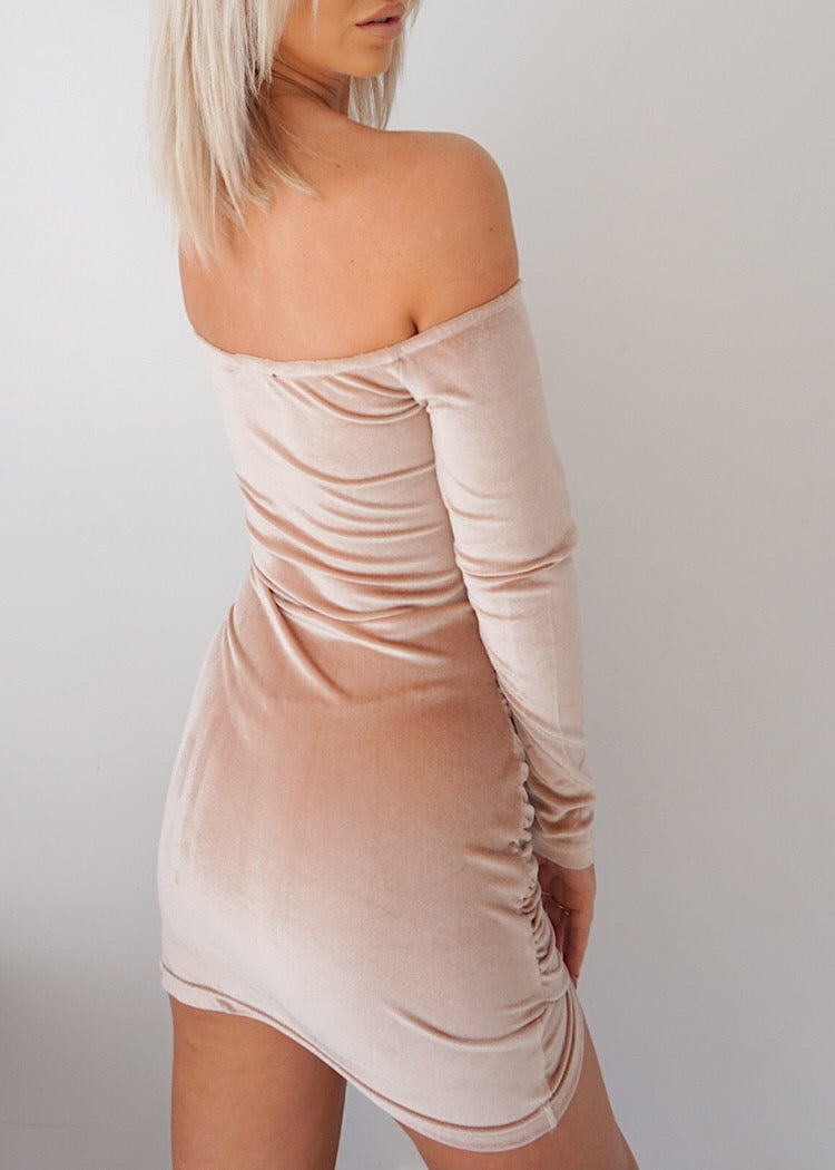 RUNAWAY PINK VELVET DRESS