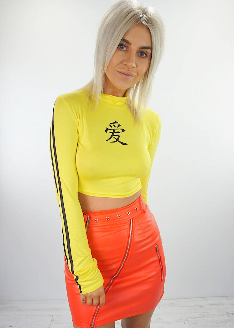 SHOGUN LONG SLEEVE CROP TOP