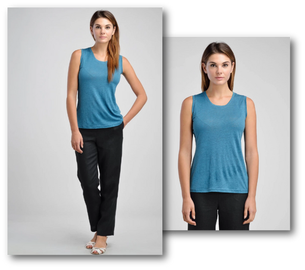 The 'Must Have' Linen Scooped Neck Jersey Cami