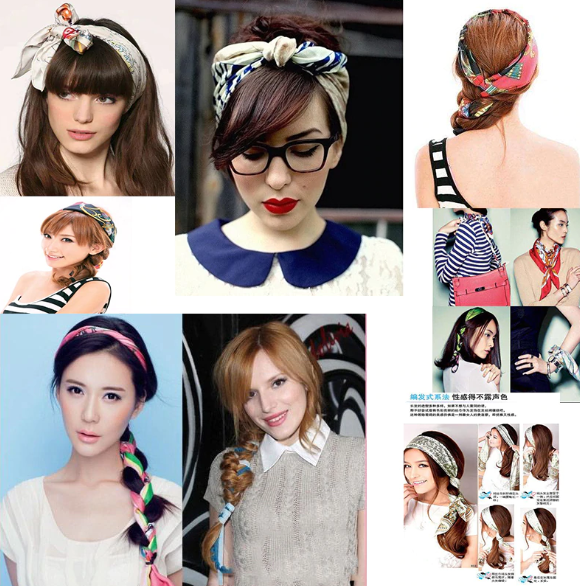 Getting fashionable with Scarves in your Hair