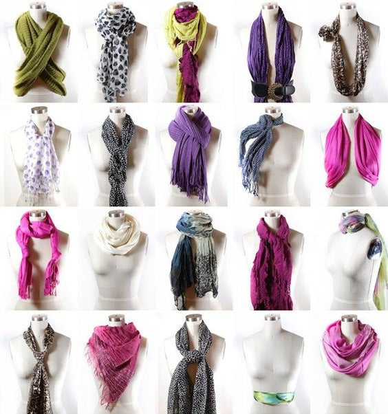 10 ways to wear a scarf