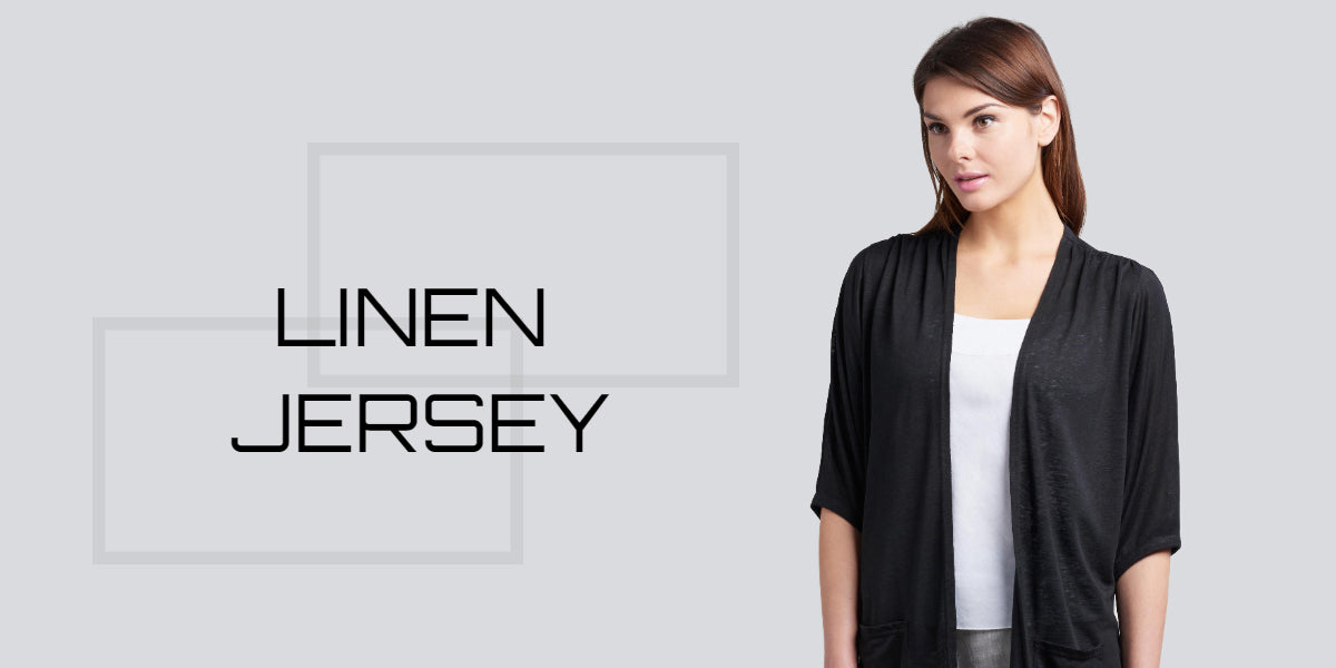 linen jersey duster top with knee length