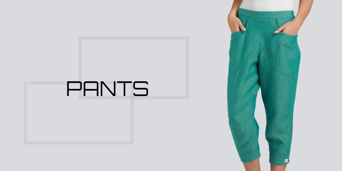women linen trousers for large size lady