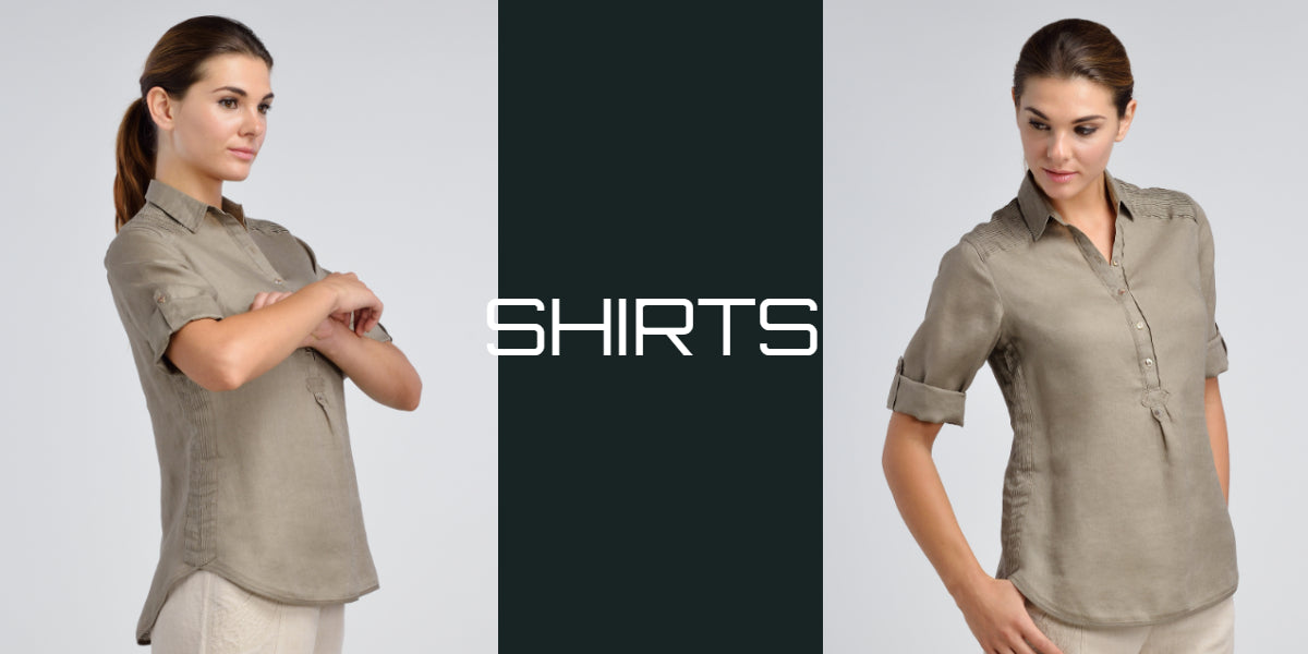 women linen shirt for working outfit