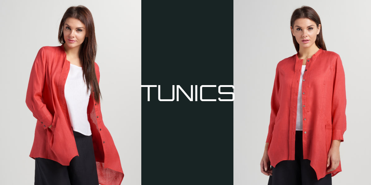 linen tunic top with sleeves
