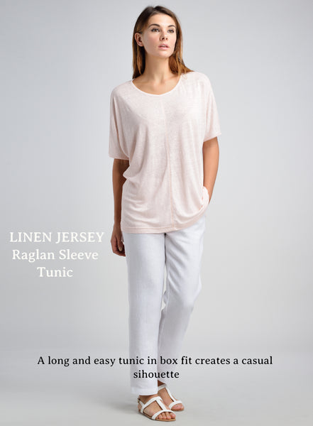 Linen jersey tee with jeans