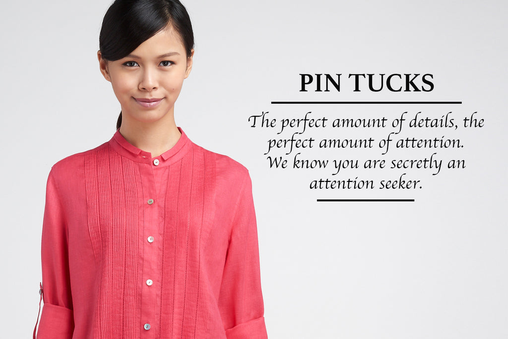 Pin-tucks Collection With Hand Made Workmanship