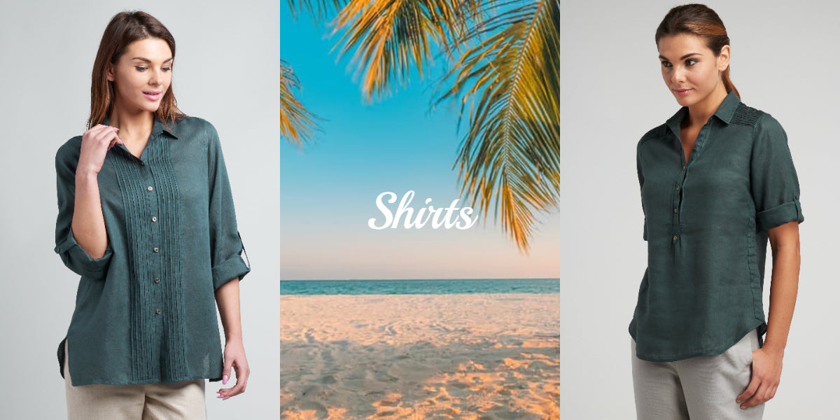 linen shirts with long, short and 3 quarter sleeves